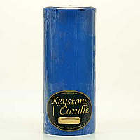 Blue Christmas 4x9 Pillar Candles