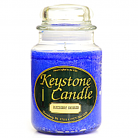26 oz Blue Christmas Jar Candles