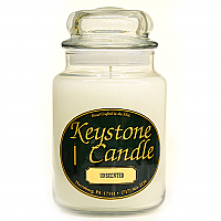 26 oz White Unscented Jar Candles