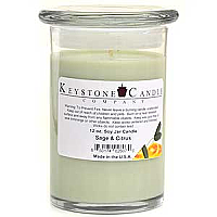 12 oz Sage and Citrus Soy Jar Candles