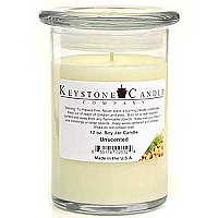 12 oz Unscented Soy Jar Candles