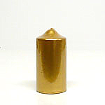 Metallic Gold Candles 3x6