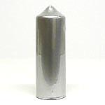Metallic Silver Candles 3x9
