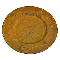 Charger Plates Tin 6 Inch Brown