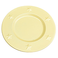 Charger Plates Tin 6 Inch Ivory