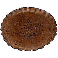 Scalloped Edge Tin Plates Rust 7 Inch