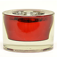 Round Tea Light Holder 3 Inch Red