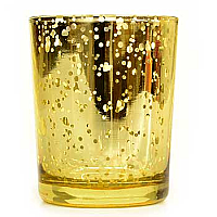 Straight Votive Cup Speckled Gold