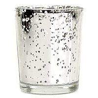 Straight Votive Cup Speckled Silver
