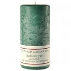Textured 3x6 Balsam Fir Pillar Candles