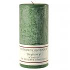 Textured 3x6 Bayberry Pillar Candles