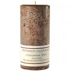 Textured 3x6 Cinnamon Stick Pillar Candles