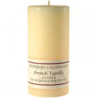 Textured 3x6 French Vanilla Pillar Candles