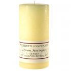 Textured 3x6 Lemon Meringue Pillar Candles