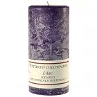 Textured 3x6 Lilac Pillar Candles