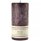 Textured 3x6 Merlot Pillar Candles