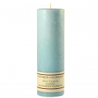 Textured 3x9 Blue Lagoon Pillar Candles