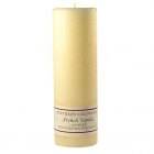 Textured 3x9 French Vanilla Pillar Candles