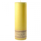Textured 3x9 Lemon Meringue Pillar Candles