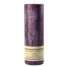 Textured 3x9 Lilac Pillar Candles