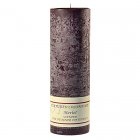 Textured 3x9 Merlot Pillar Candles