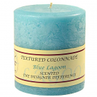 Textured 4x4 Blue Lagoon Pillar Candles