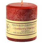 Textured 4x4 Cranberry Chutney Pillar Candles