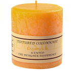 Textured 4x4 Creamsicle Pillar Candles