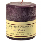 Textured 4x4 Merlot Pillar Candles