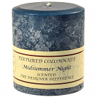 Textured 4x4 Midsummer Night Pillar Candles