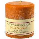 Textured 4x4 Spiced Pumpkin Pillar Candles