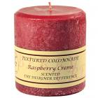 Textured 4x4 Raspberry Cream Pillar Candles
