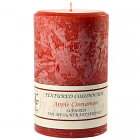 Textured 4x6 Apple Cinnamon Pillar Candles