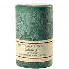 Textured 4x6 Balsam Fir Pillar Candles