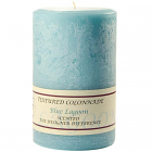 Textured 4x6 Blue Lagoon Pillar Candles