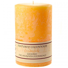 Textured 4x6 Creamsicle Pillar Candles