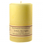 Textured 4x6 Lemon Meringue Pillar Candles