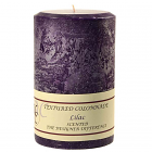 Textured 4x6 Lilac Pillar Candles
