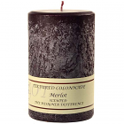 Textured 4x6 Merlot Pillar Candles