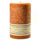 Textured 4x6 Spiced Pumpkin Pillar Candles