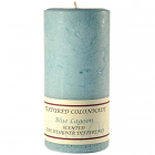 Textured 4x9 Blue Lagoon Pillar Candles