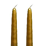 Gold Taper Candles 12 Inch