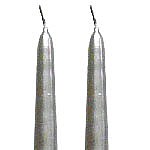 Silver Taper Candles 12 Inch