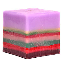 Colored Layer Square Candles 5 Inch