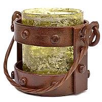 Mission Style Votive Lantern Green