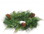 Mixed Pine Candle Rings 4.5 Inch