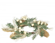 Pine Cream Berry Candle Rings 4.5 Inch