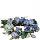 Hydrangea Petunia 6.5 Inch Candle Ring