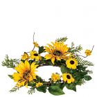 Sunflower 4.5 Inch Candle Ring