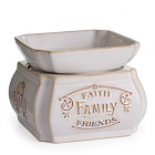 Candle Warmer and Dish Faith Family Friends